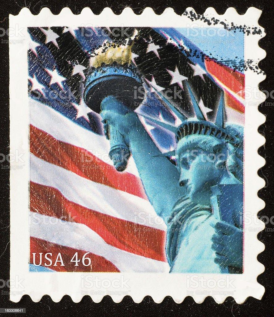 USA 46 cent stamp stock photo