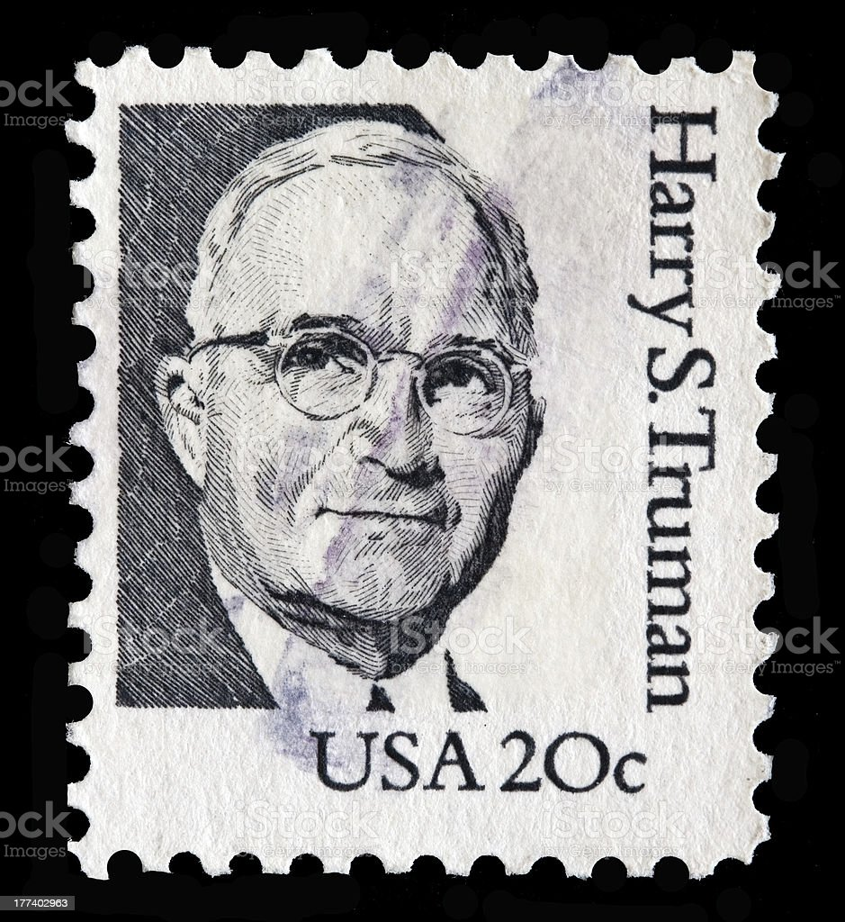USA 20 cent stamp with Harry Truman stock photo