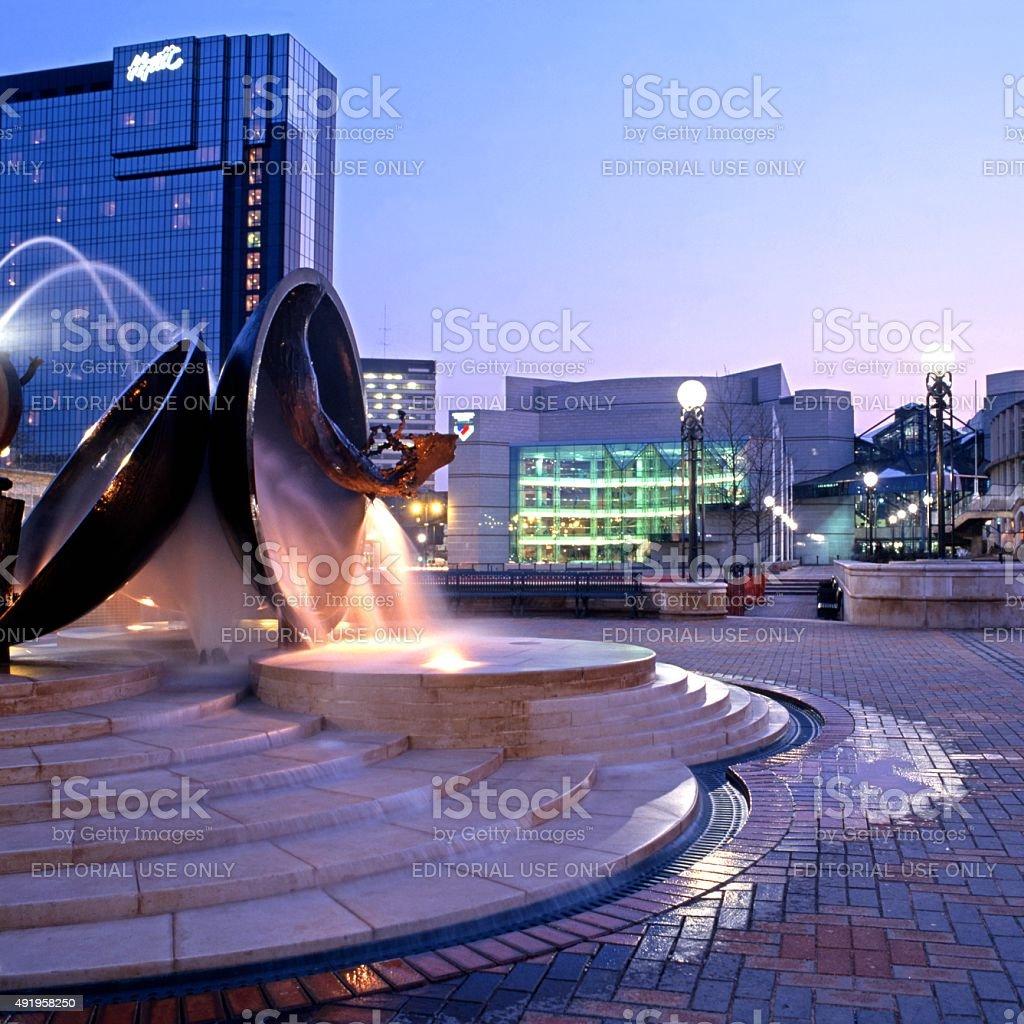 Centenary Square, Birmingham. stock photo