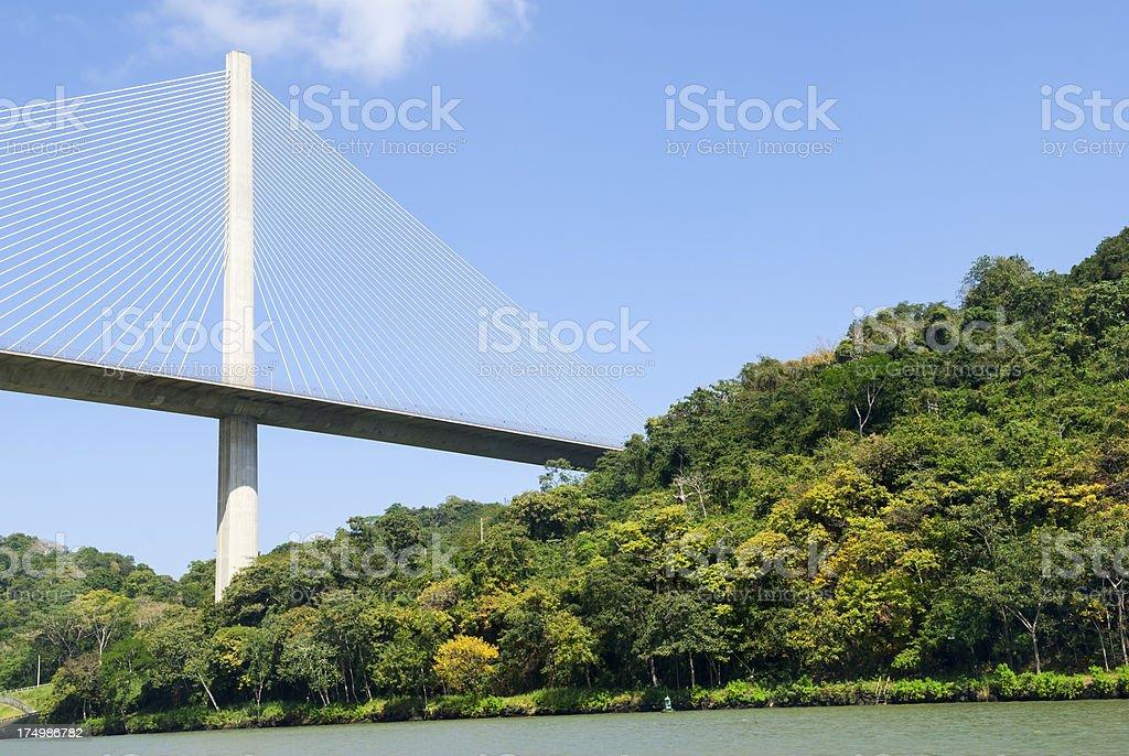 Centennial Bridge on the Panama Canal stock photo