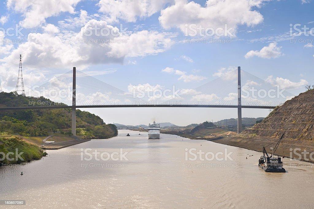 Centennial Bridge Panama Canal stock photo