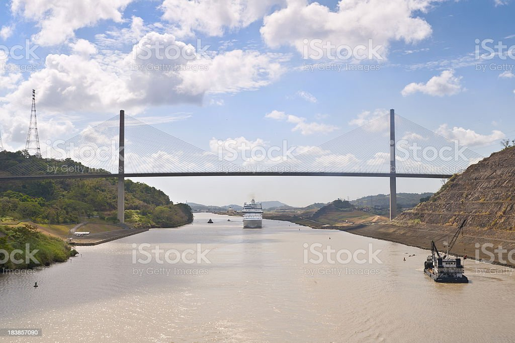 Centennial Bridge Panama Canal stock photo