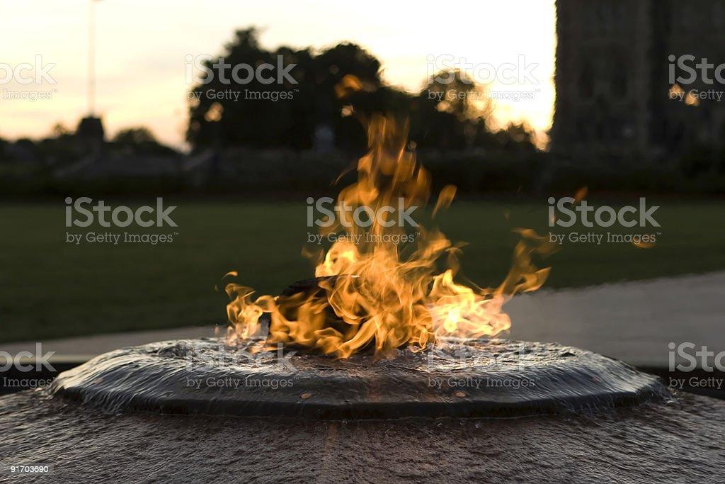 Centennial Flame Ottawa stock photo