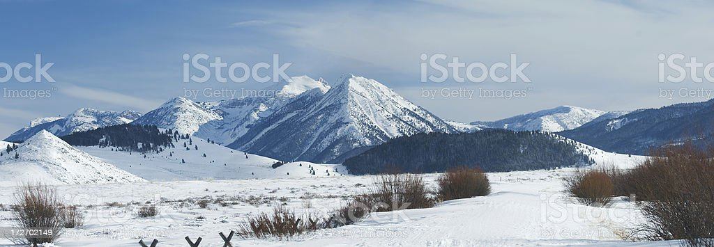 Centennial Mountain Range royalty-free stock photo