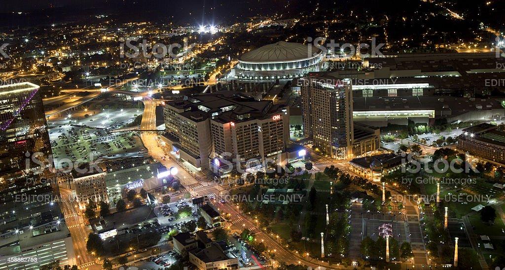 Centennial Olympic Park Area of Atlanta, Georgia stock photo