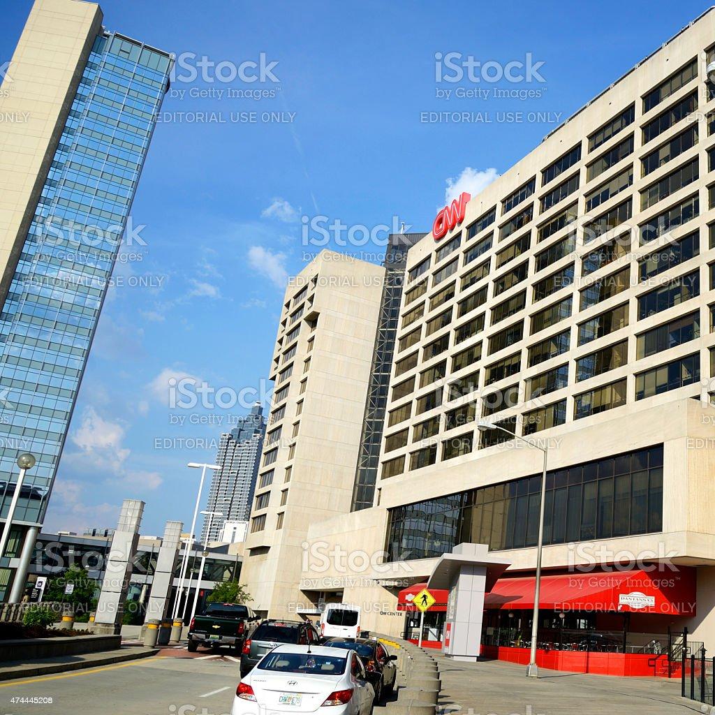 CNN Center in Atlanta stock photo