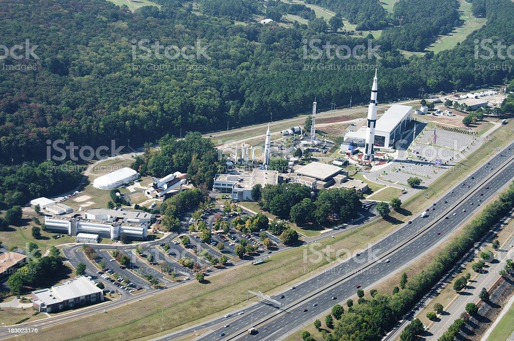 NASA Center in Huntsville stock photo