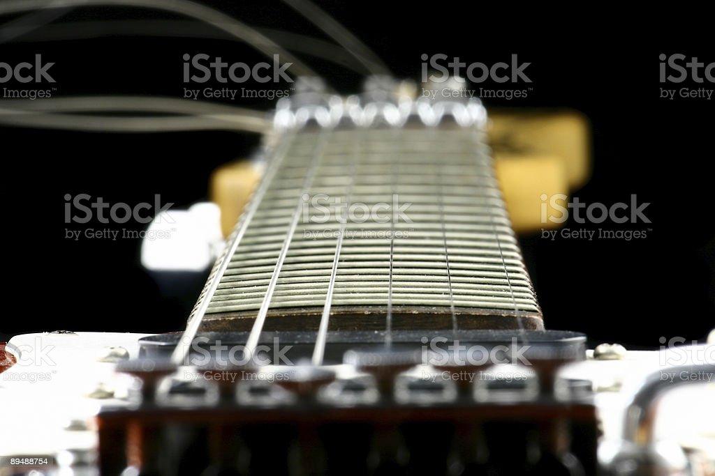 center of a guitar stock photo