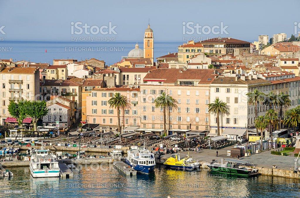 Center of Ajaccio stock photo