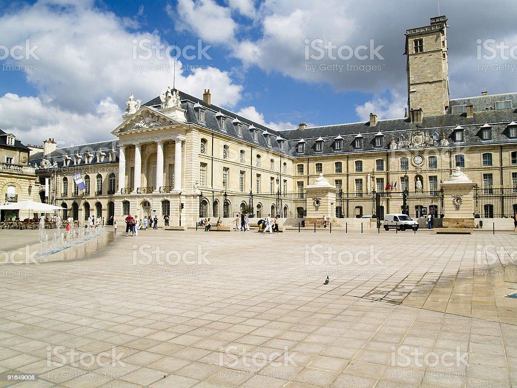 Center of Dijon - France stock photo