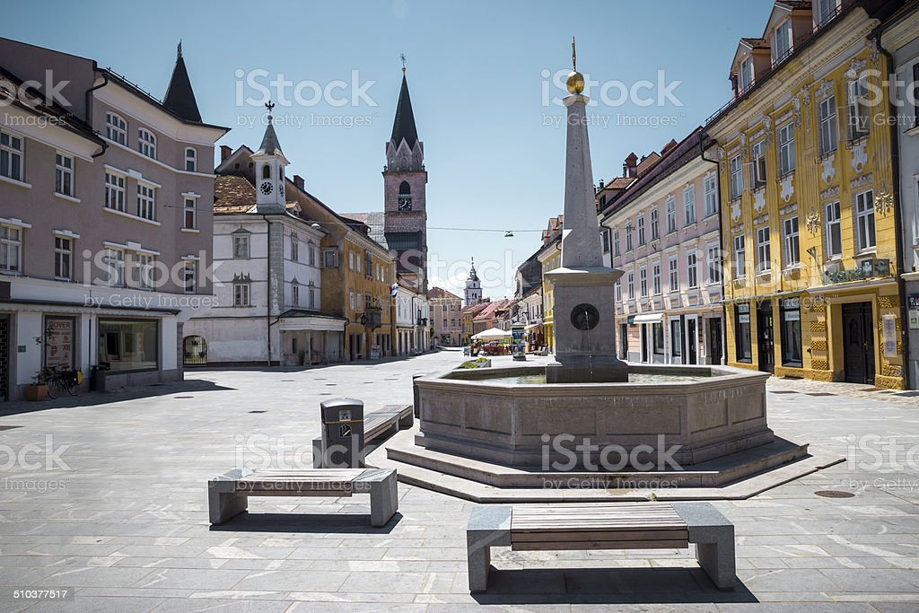 Center of Kranj stock photo
