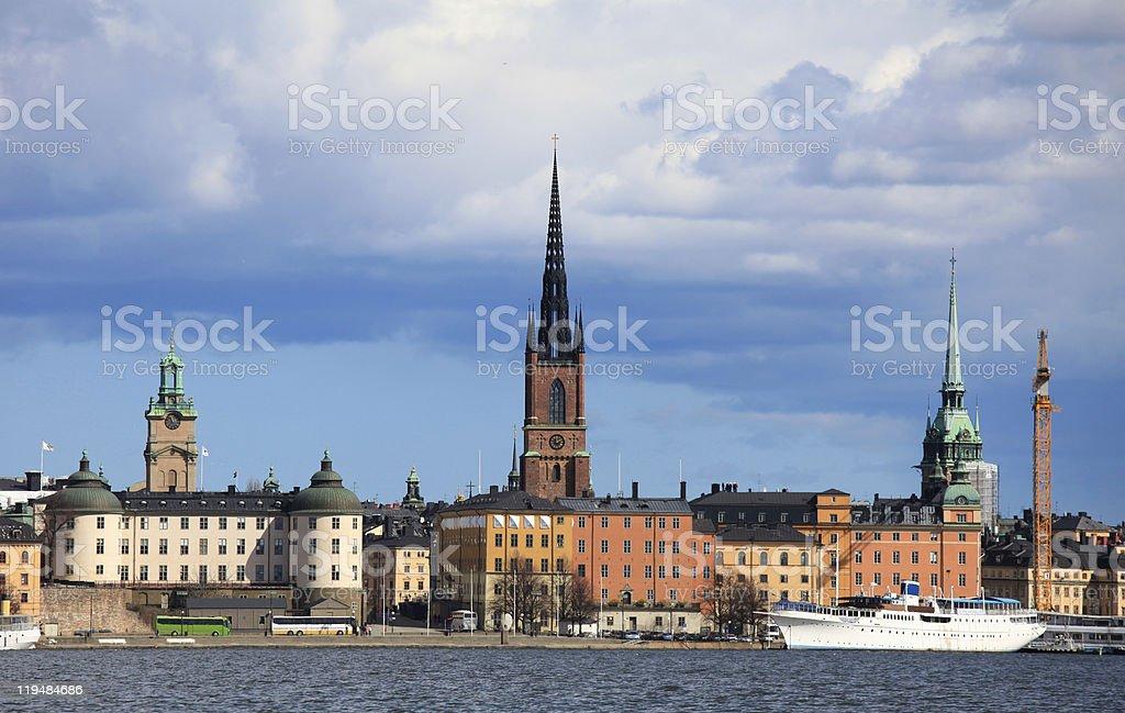 Center of Stockholm stock photo