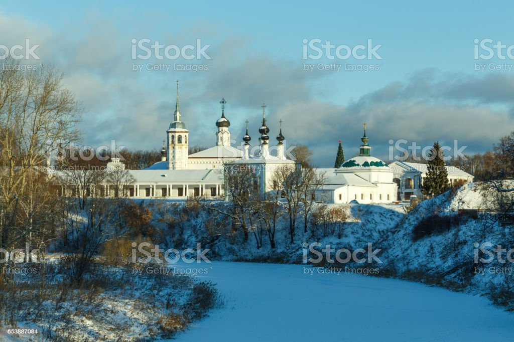 Center of Suzdal in winter stock photo