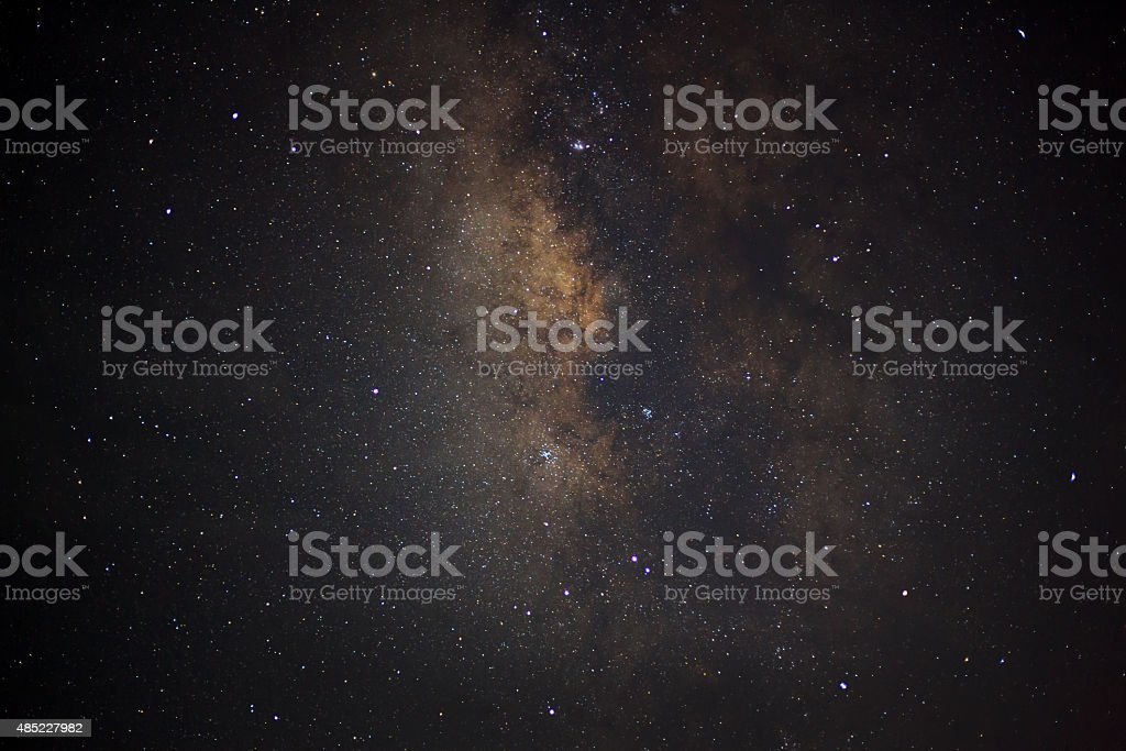 center of the milky way galaxy, Long exposure photograph stock photo