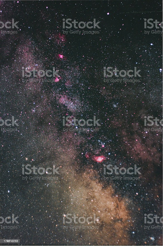 Center of the Milky Way stock photo