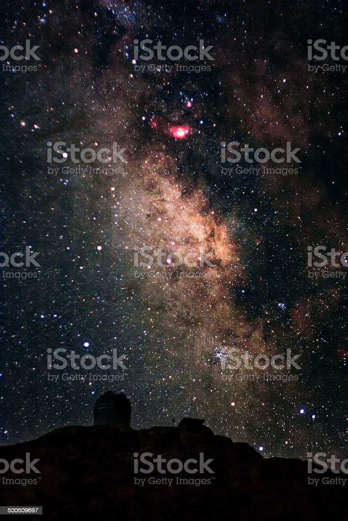 Center of the Milky Way royalty-free stock photo