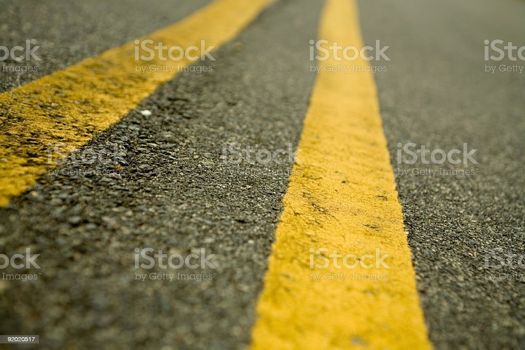 Center Road Lines royalty-free stock photo