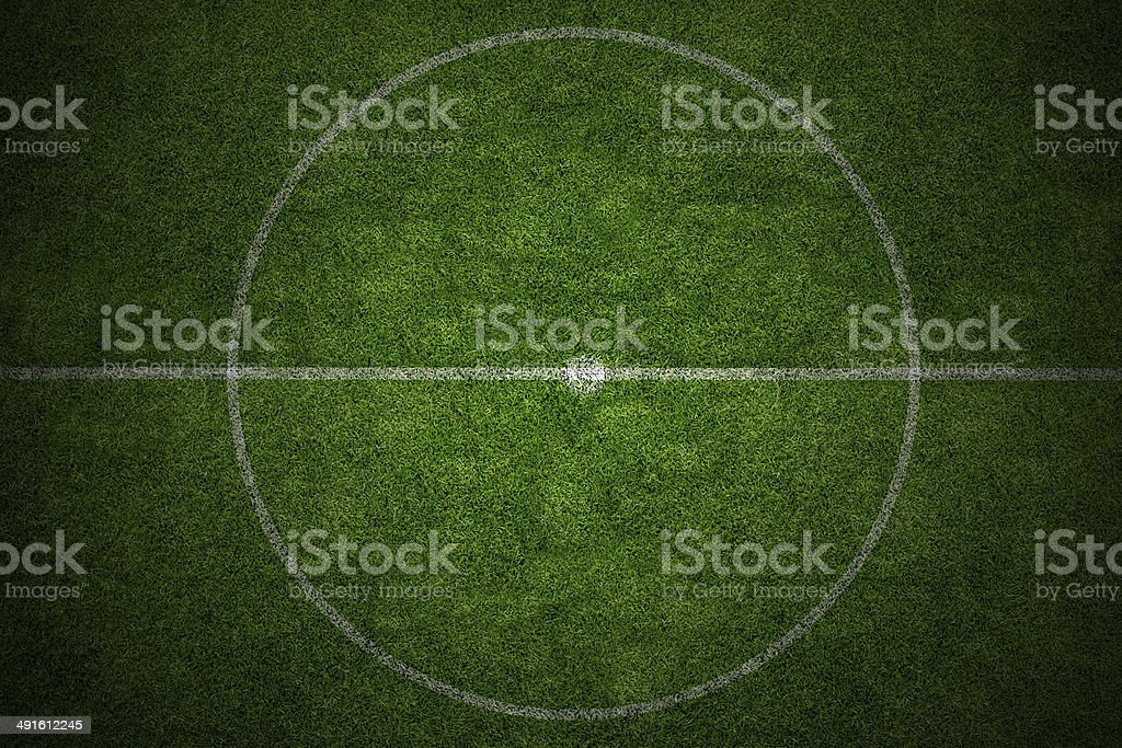 center soccer field stadium stock photo