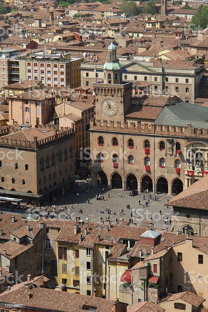 Center  view of Bologna stock photo