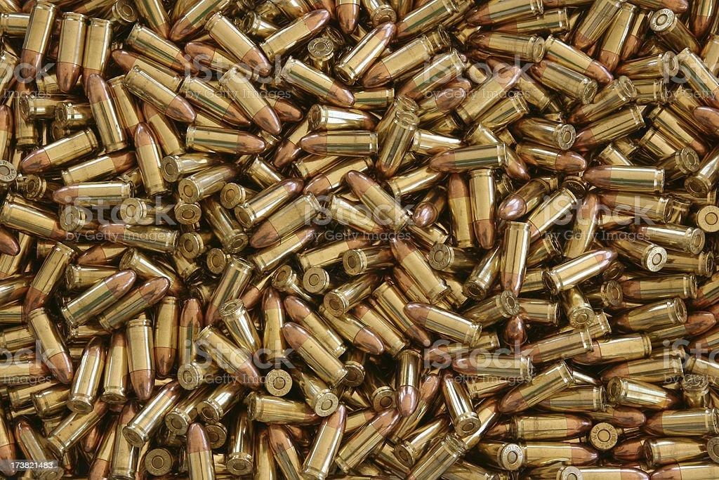 Centerfire Ammunition - 1000 rounds of 9mm stock photo