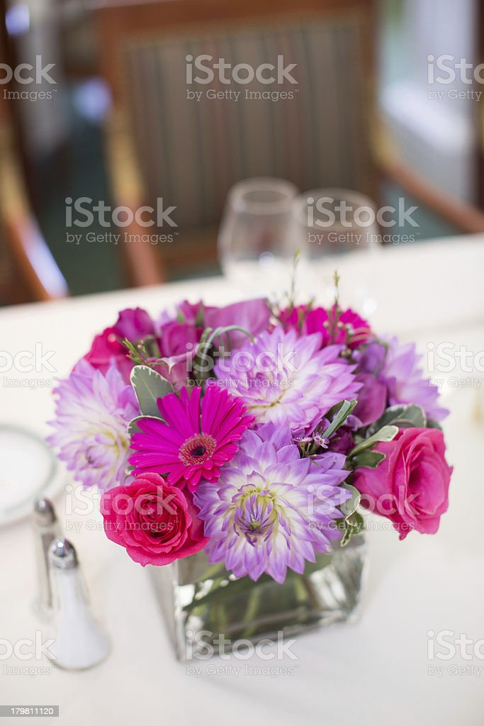 Centerpiece at a Wedding Reception royalty-free stock photo