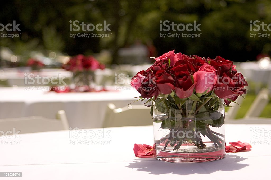 Centerpiece of Roses royalty-free stock photo