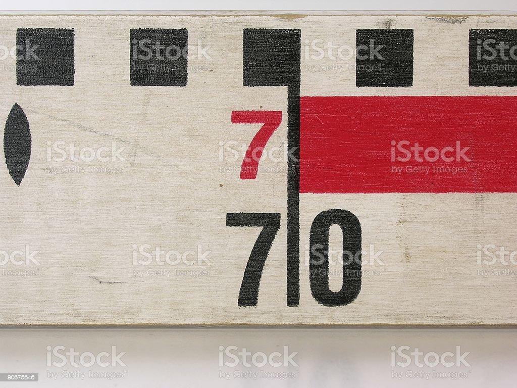 Centimetres royalty-free stock photo