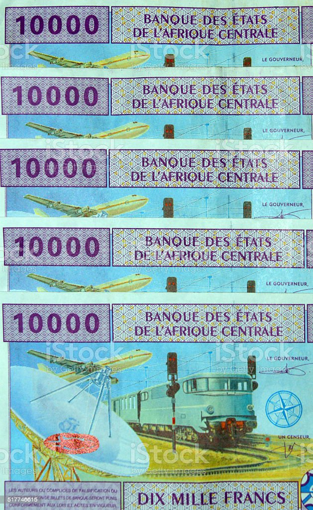 Central African CFA Francs stock photo