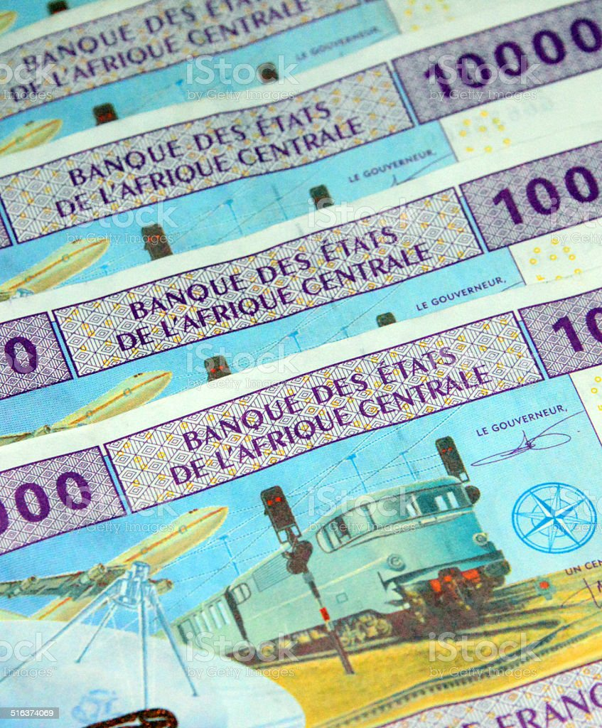 Central African CFA Francs - XAF currency code stock photo