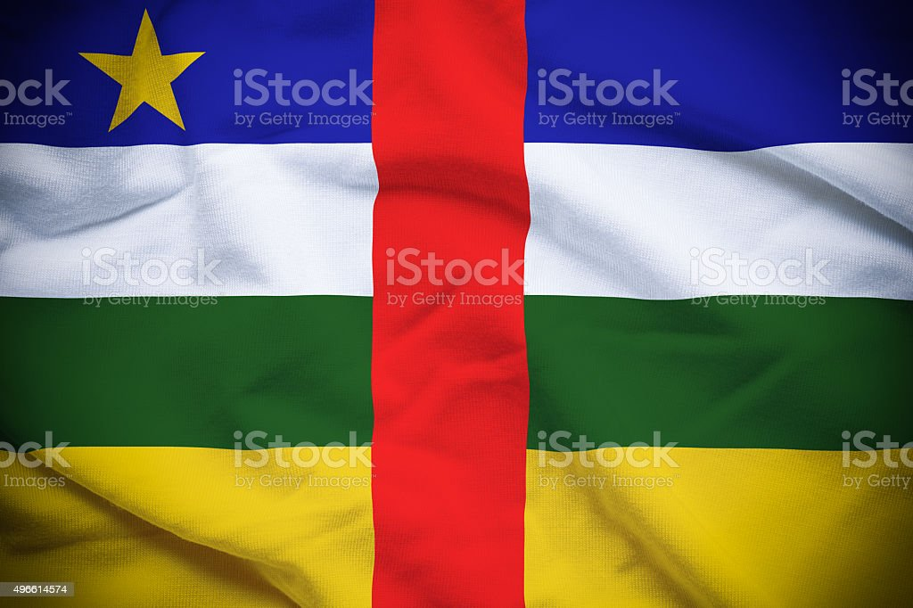 Central African Republic Flag stock photo