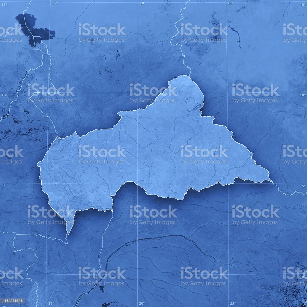 Central African Republic Topographic Map stock photo