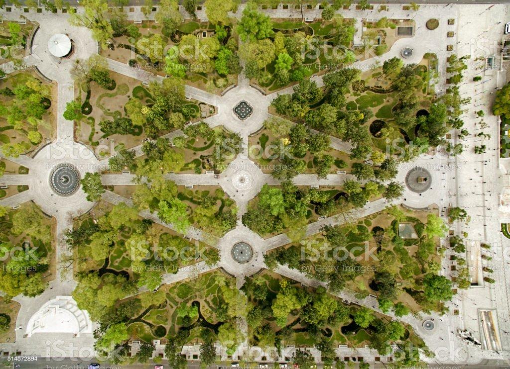 Central Alameda Park, Mexico City stock photo