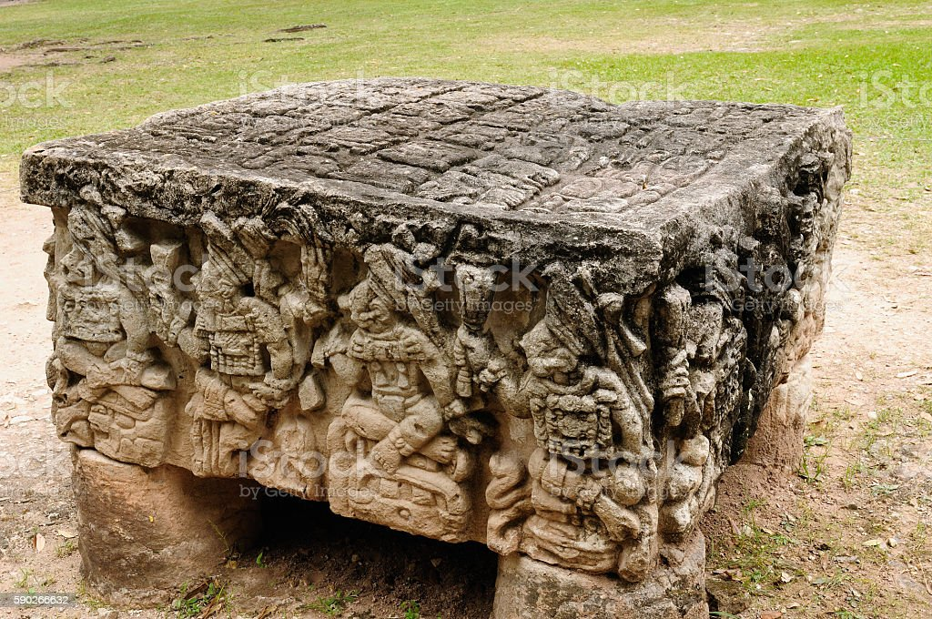 Central America, Copan Mayan ruins in Honduras stock photo