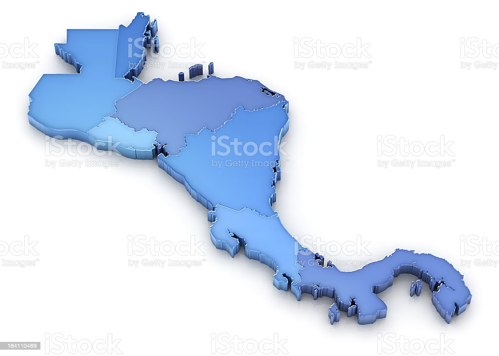 Central America Map royalty-free stock photo