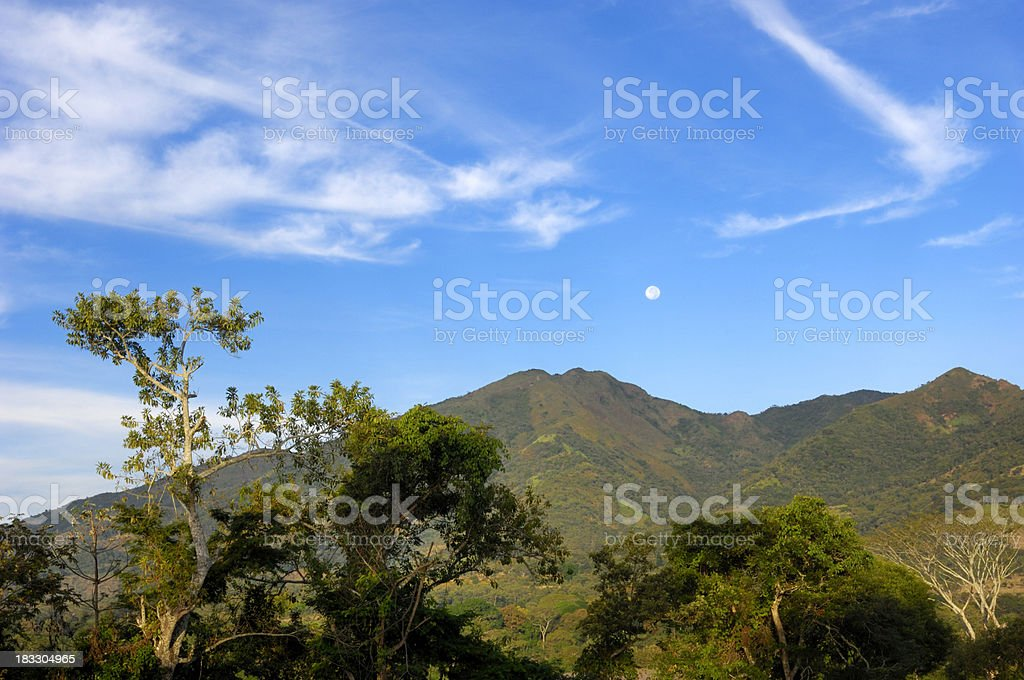 Central American Early Morning Landscape stock photo