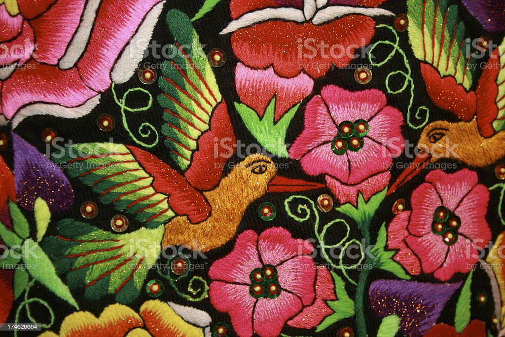 central american embroidery royalty-free stock photo