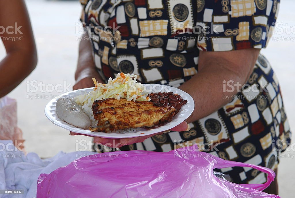 Central American Street Food royalty-free stock photo