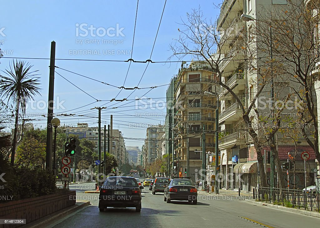 Central Athens stock photo