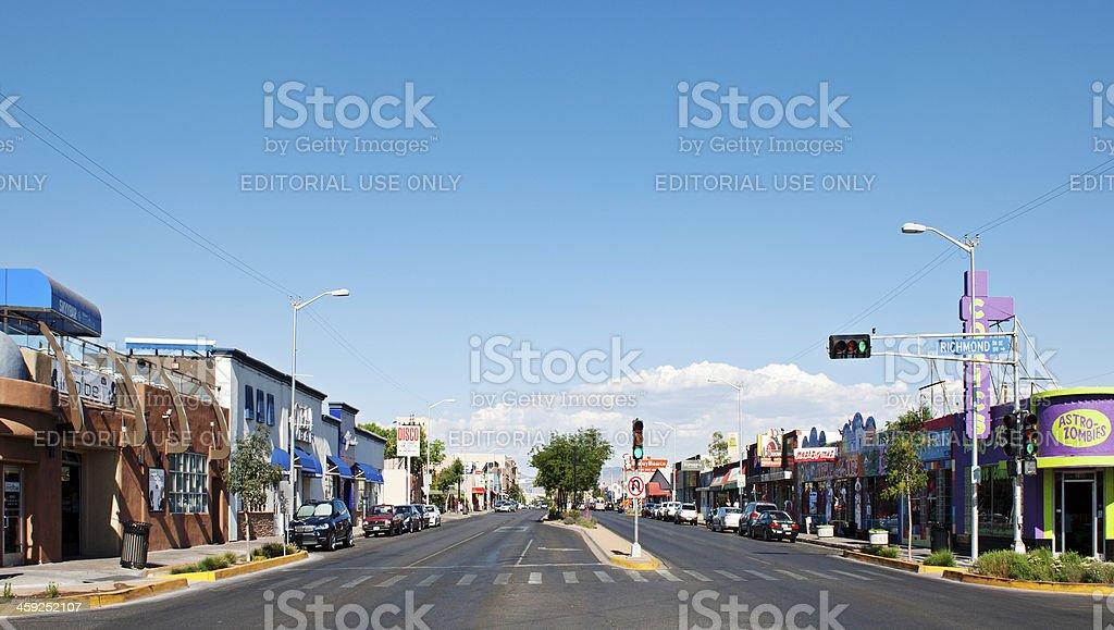 Central Avenue in Downtown Albuquerque stock photo