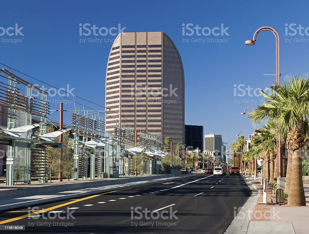 Central Avenue in Midtown Phoenix royalty-free stock photo