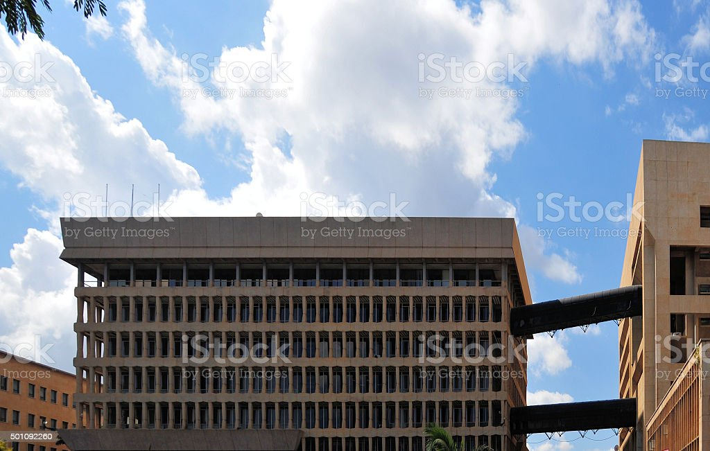 Central Bank of Zambia, Lusaka stock photo