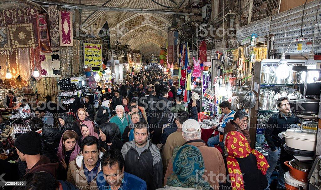 Central Bazaar, Tehran, Iran stock photo
