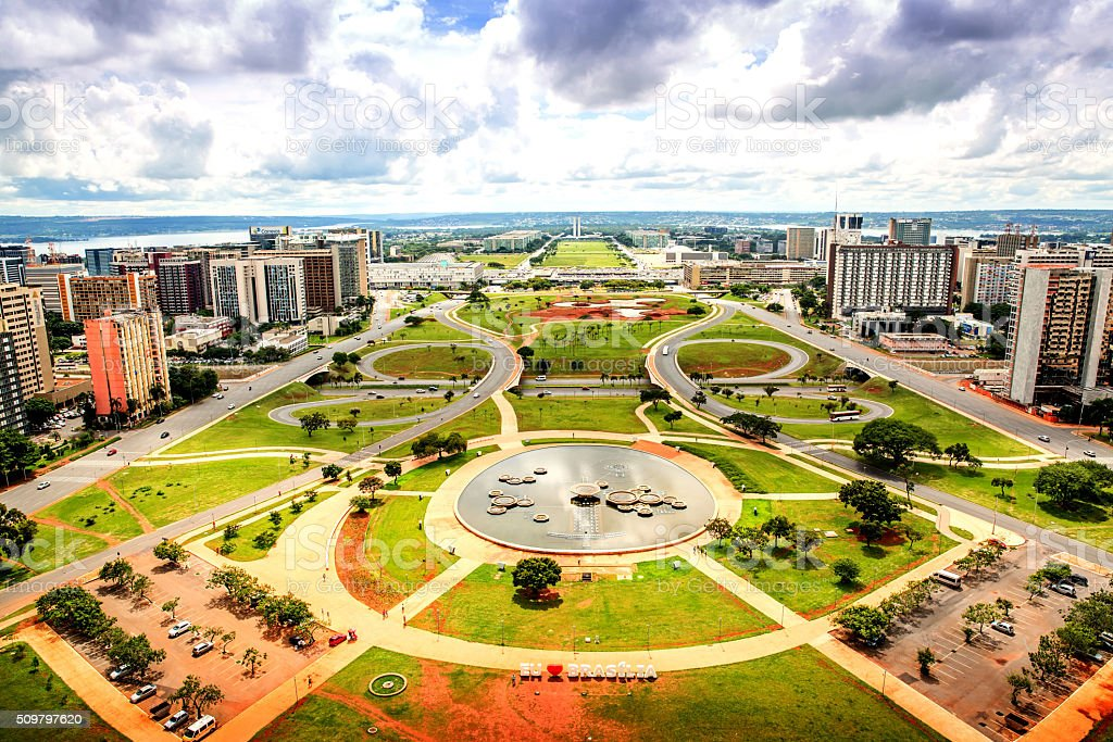 Central Brasilia view from the TV Tower stock photo