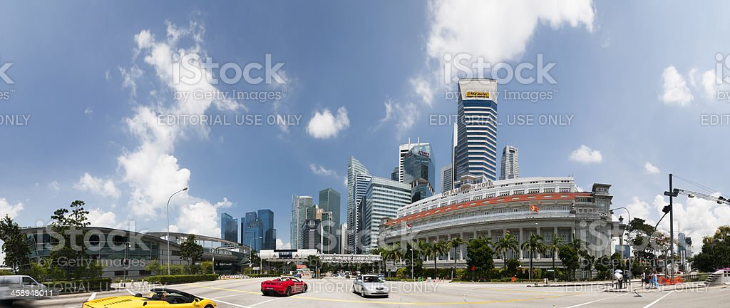 Central Business District in Panorama stock photo