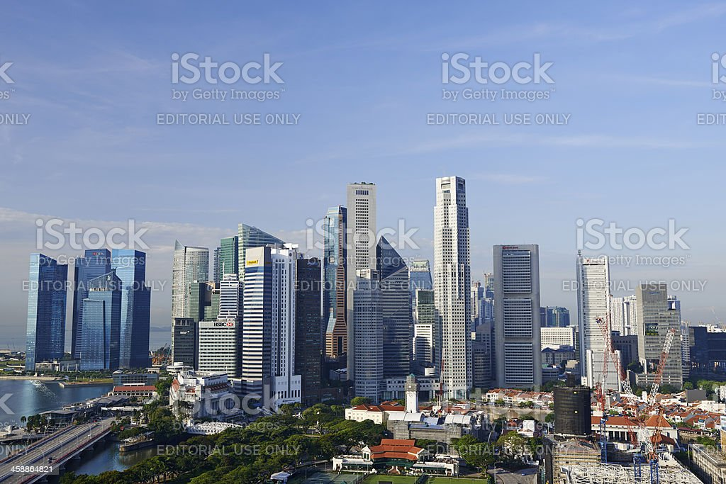 Central Business District in Singapore royalty-free stock photo