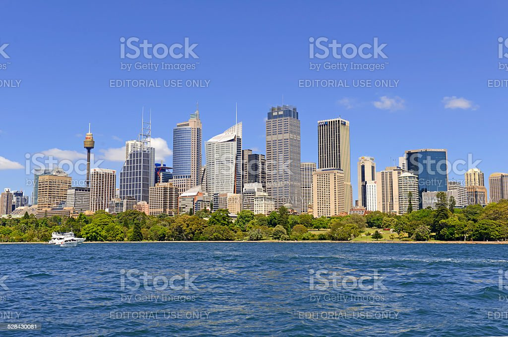 Central Business District in Sydney Australia stock photo