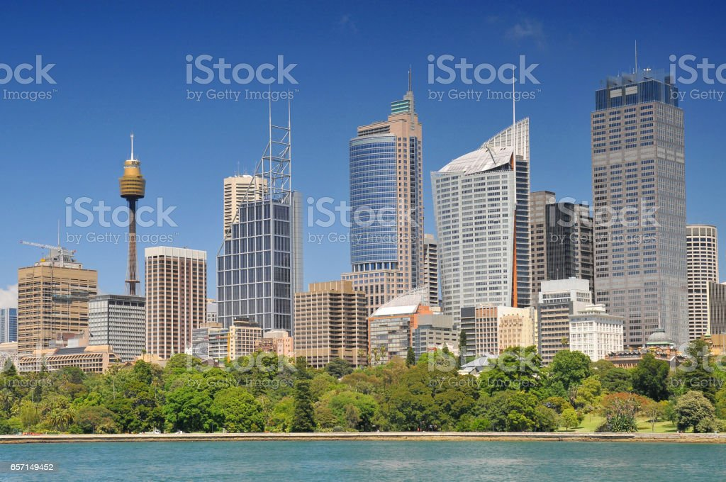 Central Business District in Sydney. stock photo