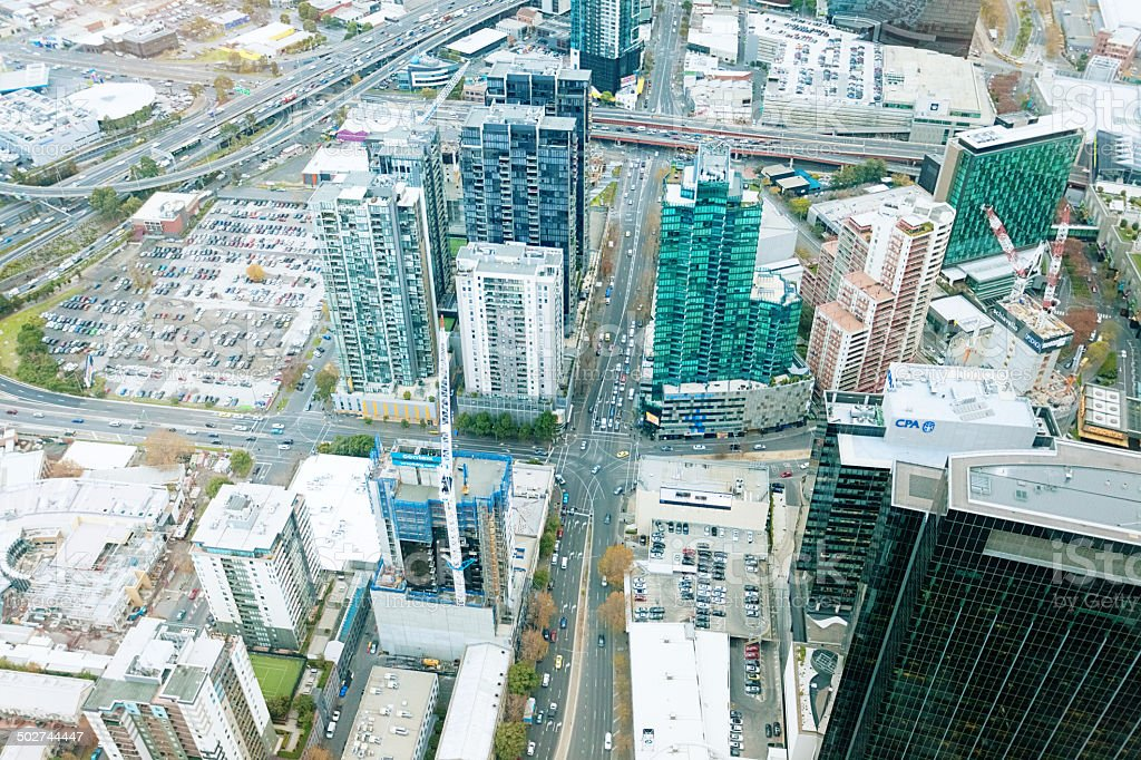 Central business district - Melbourne, Australia royalty-free stock photo