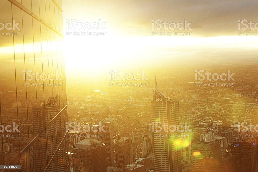 Central business district - Melbourne, Australia stock photo