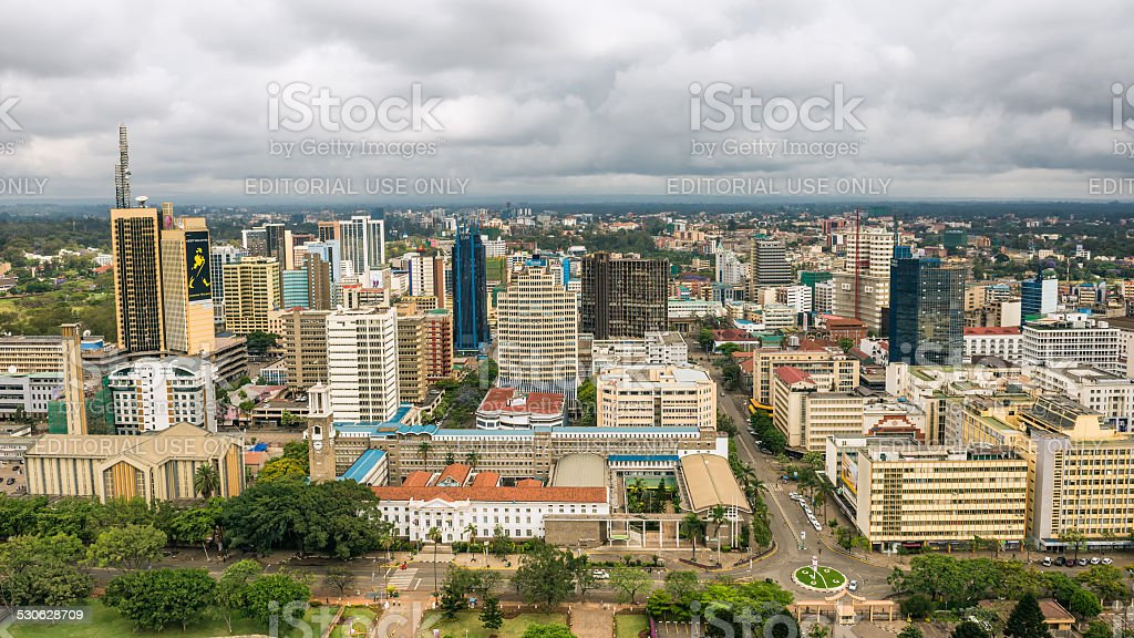 Central business district of Nairobi, Kenya stock photo